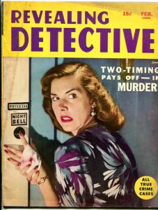 Revealing Detective Magazine February 1950- Mystery of the Missing Head VG