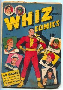 Whiz #46 1943- CAPTAIN MARVEL- Golden Age G-