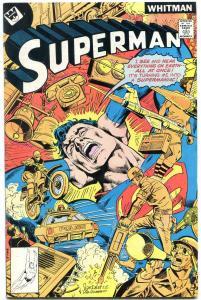 SUPERMAN #321 1977-WHITMAN COVER VARIANT VF-