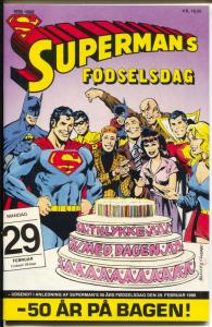 Superman's Fodseldag #29 1989-DC-Dutch Edition-50 years of Superman-VF+