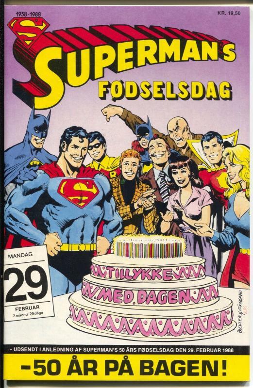 Superman's Fodseldag #29 1989-DC-Dutch Edition-50 years of Superman-VF+