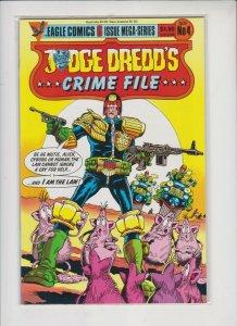 JUDGE DREDD'S ***CRIME FILE*** # 4 1985  EAGLE  COMICS / UNREAD / HIGH