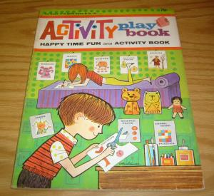 Activity Play Book SC FN happy time fun - waldman 1967 - 96 pages - vintage