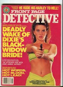 FRONT PAGE DETECTIVE-MAY/1991-BLACK WIDOW'S-HARLEY TO HELL-COIN-SHOP KILLER G/VG