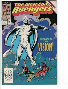 West Coast Avengers #45 FN 1st appearance of white vision john byrne new show