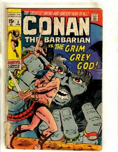 Conan The Barbarian # 3 GD Marvel Comic Book Kull King Red Sonja Warrior RS1
