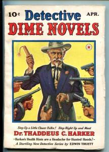DETECTIVE DIME NOVELS-#1-APR 1940-MYSTERY-PULP-SOUTHERN STATES PEDIGREE-fn/vf