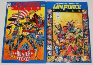 U.N. Force Files #0-1 FN complete series - gauntlet comics set lot (caliber)