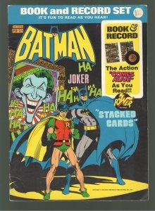 BATMAN BOOK AND RECORD SET PR27-NEAL ADAMS ART! TRUMPING THE JOKER!