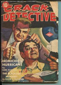Crack Detective 7/1943-Double Action-Nazi-torture-hard boiled-crime-pulp-G-