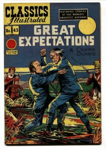CLASSICS ILLUSTRATED #43-1949-HRN 62-GREAT EXPECTATIONS-CHARLES DICKENS-VF-