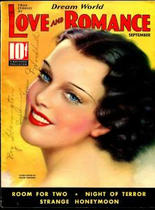Dream World Love and Romance 9/1936-pin-up girl cover-Tchetchet-spicy-exotic-FN