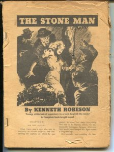 Doc Savage  1940's-The Stone Man-Kenneth Robeson-rare-P