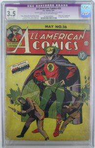 1941 DC~All American Comics #26~CGC 3.5~1st App. of Sargon the Sorcerer/Restored