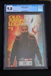 Old Man Logan #1, CGC 9.8, Jeff Lamire Story, White Pages.
