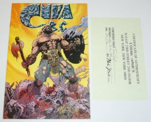Cuda B.C. #1 VF/NM signed by Tim Vigil with COA - Rebel