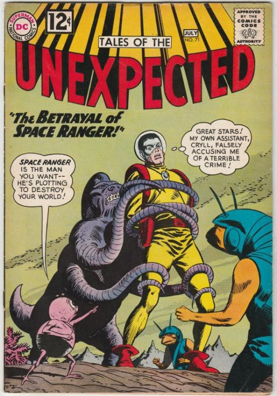 Tales of the Unexpected #71 (Jul-62) VF+ High-Grade Space Ranger, Cyrl
