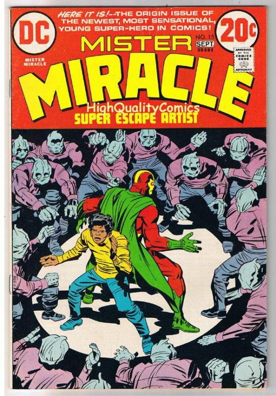 MISTER MIRACLE #15, FN, Jack Kirby, 1st Shilo, 1971, more JK in store