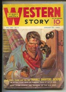 Western Story Pulp 1/25/1941-Richard Case telephone cover art-Jim Kjelgaard-e...