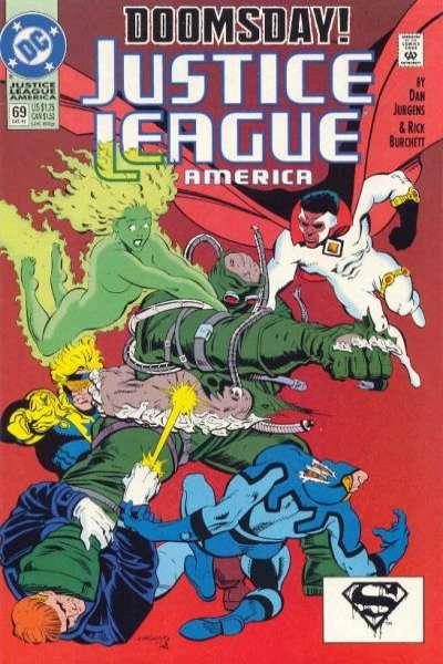 Justice League (1987 series) #69, NM- (Stock photo)