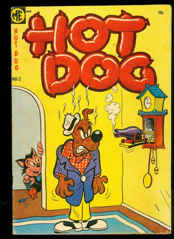 Hot Dog Comics #2 1947- ME- Funny Animals Golden Age- VG+