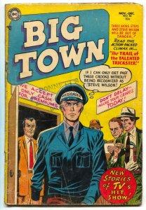 Big Town #30 1954-DC-hit TV series-pre-code crime & violence-G/VG