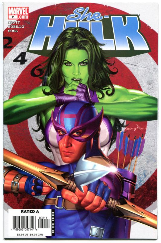SHE-HULK #2, NM, Greg Horn, Good Girl, Femme Fatale, 2005, more in store