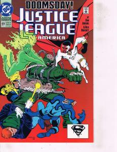 Lot Of 5 Justice Justice League America DC Comic Books #66 71 77 89 100 LH21