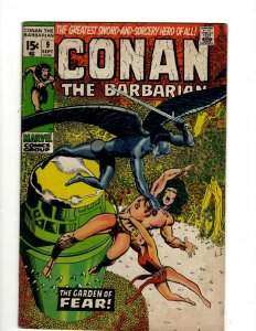 Conan The Barbarian # 9 VF Marvel Comic Book Barry Smith Kull King Sword NP16