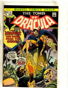 The Tomb Of Dracula # 14 VF Marvel Comic Book Blade Vampire Hunter Undead RS1