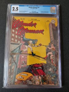 WONDER WOMAN #29 CGC 2.5 GOLDEN AGE CLASSIC 1ST APP. OF MINISTER BLIZZARD