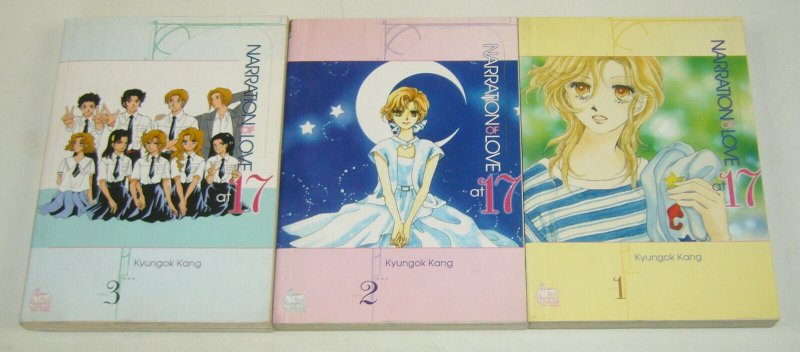 Narration of Love at 17 vol. 1-3 VF/NM complete set netcomics manga set lot 2