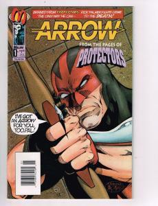 Arrow (1992 Malibu) #1 Comic Book Protectors Man of War One-Shot HH2