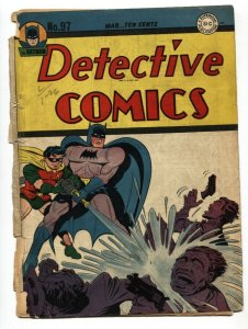 DETECTIVE COMICS #97-FRONT COVER and BATMAN story only