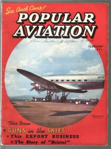 Popular Aviation 2/1938-Arch Whitehouse story-pre WWII-pulp thrills-VG