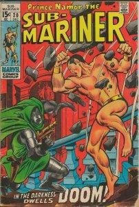 Sub Mariner #20 ORIGINAL Vintage 1969 Marvel Comics Dr Doom