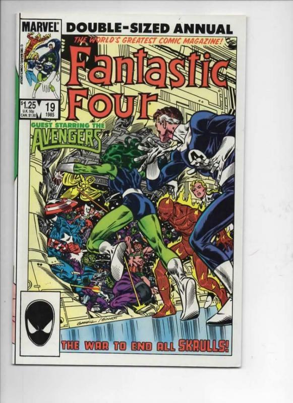 FANTASTIC FOUR #19 Annual, VF/NM, Avengers, Byrne, 1961 1985, Marvel