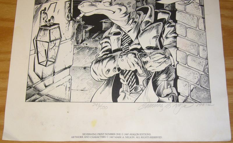 Mark A. Nelson's the Silverwing Collection portfolio (#243/500) 1987 avalaon
