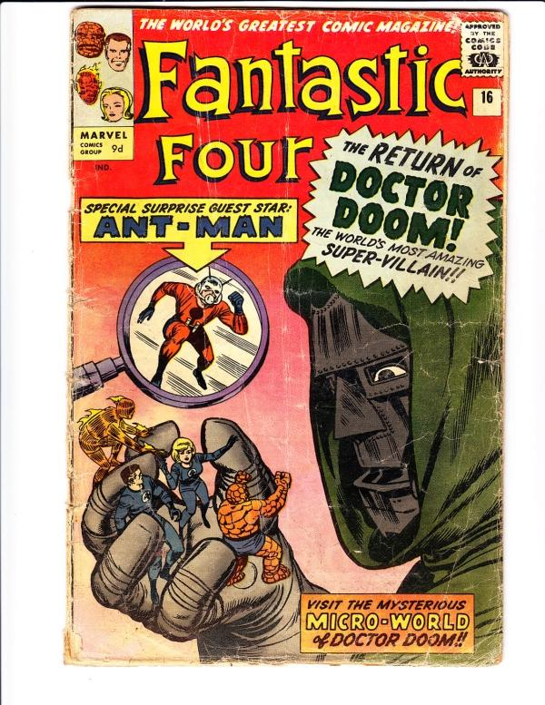 Fantastic Four British Variant #16 (Jul-63) GD- Affordable-Grade Fantastic Fo...