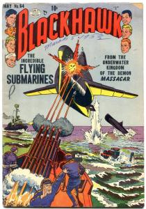 BLACKHAWK #64 1953 QUALITY  FLYING SUBS CRANDALL ART VG