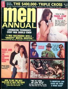 Men Magazine Annual 1974-INTER RACE ROMANCE-BEAR ATTACK-ASYLUMS