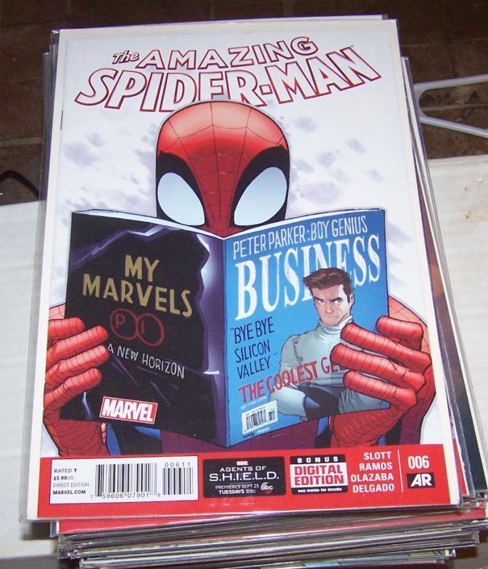 Amazing Spider-Man # 6 (Nov 2014, Marvel) SPIDER VERSE PRELUDE SILK BLACK CAT