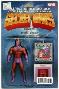 Secret Wars #7 Magneto Action Figure Variant Comic Book (Marvel, 2016) NM
