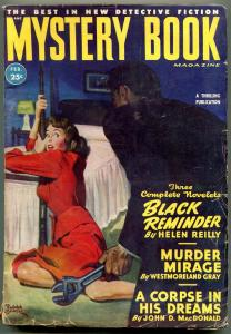 Mystery Book Pulp February 1949- John D MacDonald- Wrench Menace cover VG+