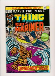 Marvel THE THING & SUB-MARINER  Vol 1. #2 March 1974 FINE (PF430)