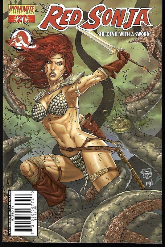 Red Sonja #21 (Dynamite Entertainment)- Joe Prado Cover