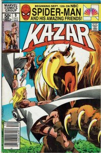 Ka-Zar the Savage #9 (1981) Bruce Jones Newsstand FN+