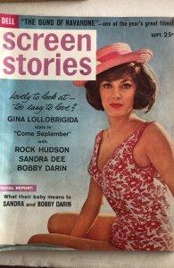 Screen Stories Sept.1961-Gina,Rock,Sandra,Liz! C all my mags!Combine!
