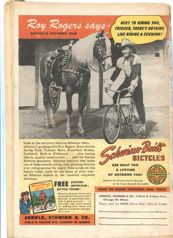 MASTER #82-1947-CAPTAIN MARVEL JR-BULLETMAN-RADAR-NYOKA-ROY ROGERS