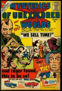 Mysteries Of Unexplored Worlds #20 1960-CHARLTON comics time travel G